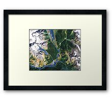 """Alaskan Spring"" - The snow is receding and the valleys are greening. Framed Print"