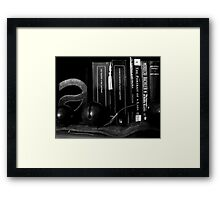 books and bells Framed Print