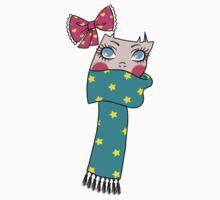 Cute Scarf Girl by Angel Szafranko