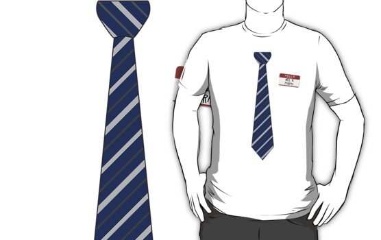 Geek Tie Shirt - Neil B. Formy (blue) by Adam Roper