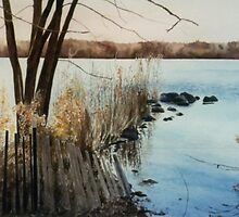"""""""Serenity - Rockland Lake upstate New York"""" by Spenceartist"""