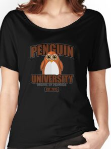 Penguin University - Brown 2 Women's Relaxed Fit T-Shirt