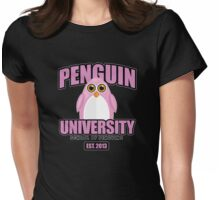 Penguin University - Pink 2 Womens Fitted T-Shirt