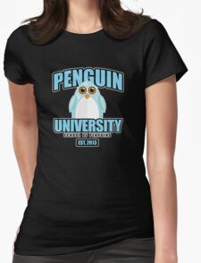 Penguin University - Blue 2 Womens Fitted T-Shirt