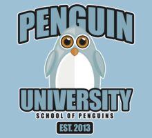 Penguin University - Blue Baby Tee