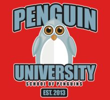 Penguin University - Blue Kids Tee