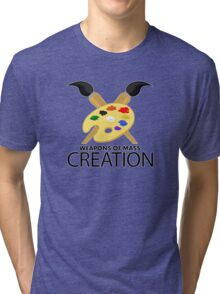 Weapons of mass creation - Yellow Tri-blend T-Shirt