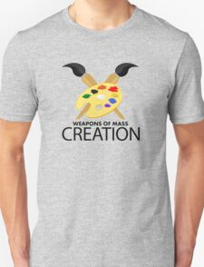 Weapons of mass creation - Yellow Unisex T-Shirt