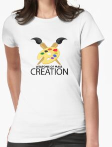 Weapons of mass creation - Yellow Womens Fitted T-Shirt