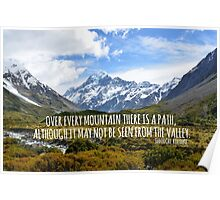 Over Every Mountain. Poster