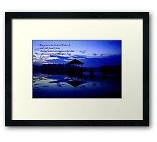 Praise, pierce water Framed Print