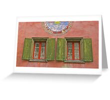 Old Green Shutters Greeting Card