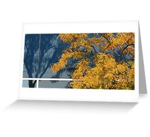 Tree by  glass wall Greeting Card