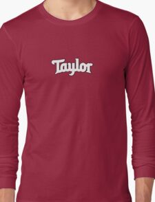 White Taylor Long Sleeve T-Shirt