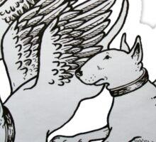 Flying Bull Terriers Sticker