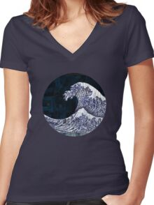 Tidal (Walls Notebook) Women's Fitted V-Neck T-Shirt