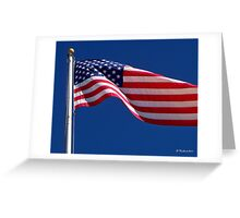 God Bless America - The United States Flag Greeting Card