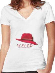 What Would Peggy Do? Women's Fitted V-Neck T-Shirt