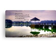 Life, water pierce Canvas Print