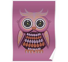 Star Eye Owl - Purple Orange 3 Poster