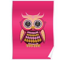 Star Eye Owl - Pink Orange 3 Poster