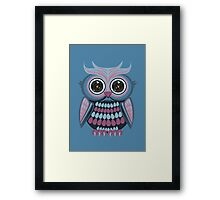 Star Eye Owl - Blue Purple 3 Framed Print