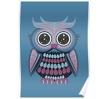 Star Eye Owl - Blue Purple 3 Poster