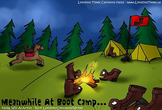 Boot Camp by Londons Times Cartoons by Rick  London
