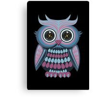 Star Eye Owl - Blue Purple 2 Canvas Print
