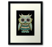 Star Eye Owl - Green 3 Framed Print