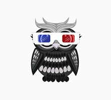 Owl - 3D Glasses - White Men's Baseball ¾ T-Shirt