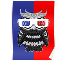 Owl - 3D Glasses Poster