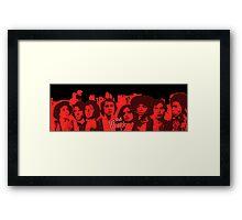 The Warriors - Vector Art  Framed Print