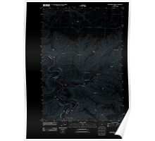 USGS Topo Map Oregon Shoestring Ridge 20110913 TM Inverted Poster