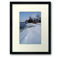 Tracks along the River Bank Framed Print