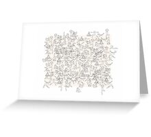 Yoga Manuscript Greeting Card