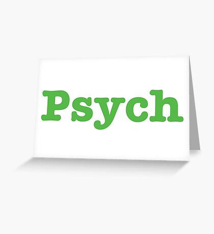 Psych Shop  Greeting Card