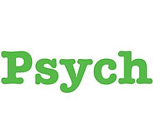 Psych Shop  Photographic Print