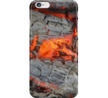 EMBERS IN THE FIREPLACE. iPhone Case/Skin