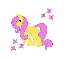 Fluttershy and her butterflies Photographic Print