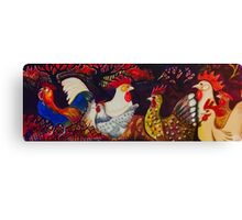 Poultry red Canvas Print