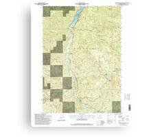 USGS Topo Map Oregon Warner Mountain 282021 1997 24000 Canvas Print