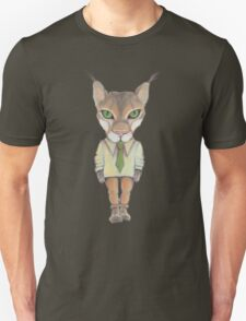 Funny lynx in a suit and tie. Hipster lynx. Lynx boss. T-Shirt