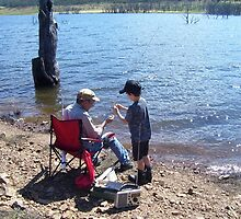 """The master and the apprentice"" at Lake Eucumbene. by eucumbene"