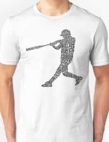 Softball Baseball Player Calligram T-Shirt