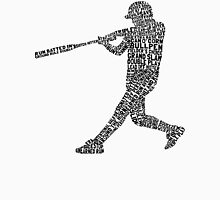 Softball Baseball Player Calligram Unisex T-Shirt