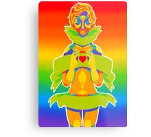 Rainbow Ribbon Metal Print