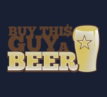 Buy this GUY a BEER! with pint glass Kids Tee