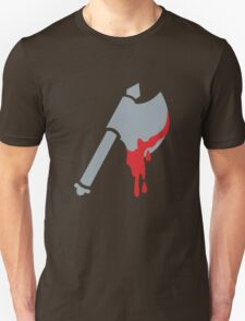 Medieval Viking Axe with dripping blood Unisex T-Shirt