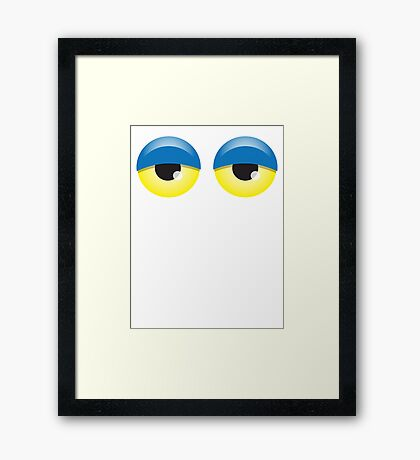 Dopey looking Blue lidded eyes Framed Print